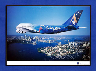 OLYMPIC AIRCRAFT POSTER (B747-300, VH-INJ)
